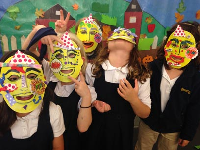 TN-silly posing with our pop art masks