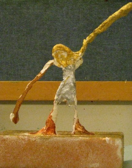 Giacometti inspired plaster wrap and wire sculptures!